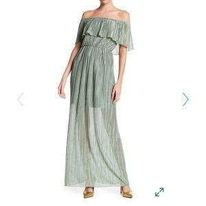Off Shoulder Maxi Gown